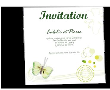 carte d invitation mariage personnalisable pot fleurs ch 234 tre