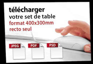 envoyez votre création de set de table personnalisé 400x300mm