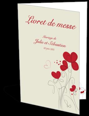 Livret de messe ou programme de mariage personnalisable fleurs for Livret des fleurs