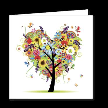 faire part de mariage personnalisable arbre fleuri coeur. Black Bedroom Furniture Sets. Home Design Ideas